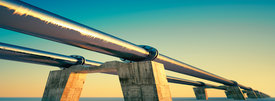 Energy pipeline sunset