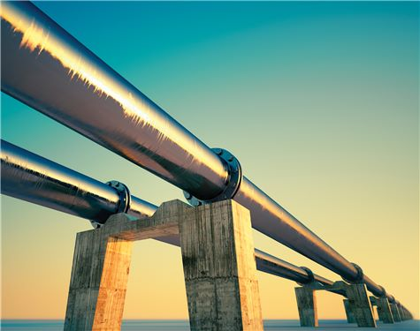 Pipes with sunset